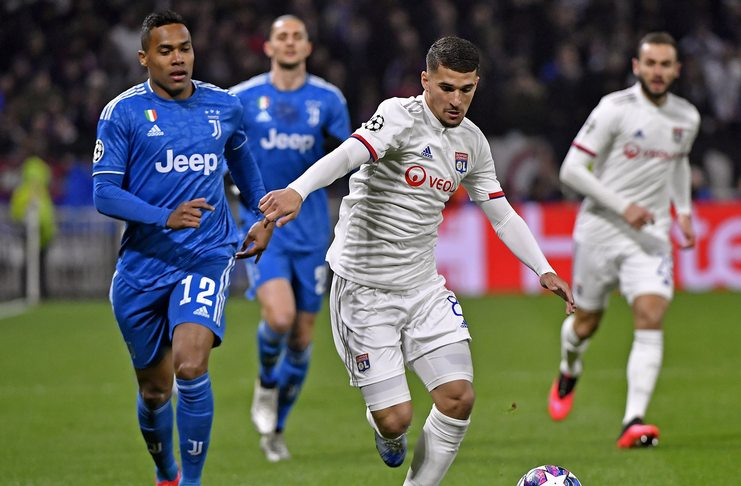 Houssem Aouar - Olympique Lyon - Juventus - @ol_english