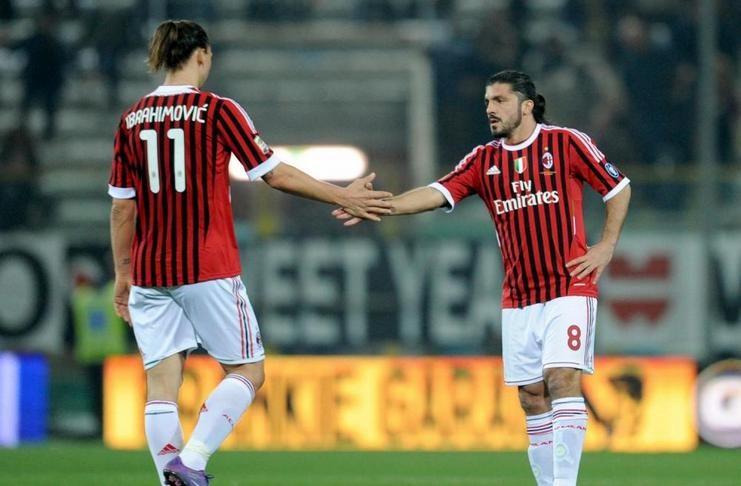 Zlatan Ibrahimovic Gennaro Gattuso ac milan getty images