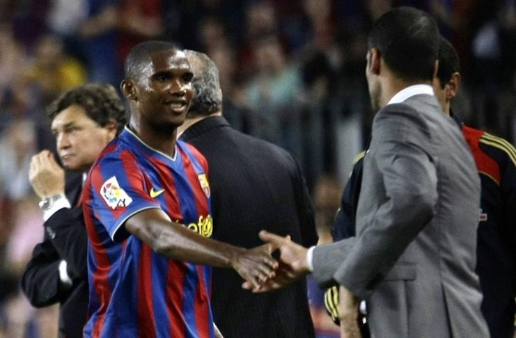 Samuel Eto'o pep guardiola 2