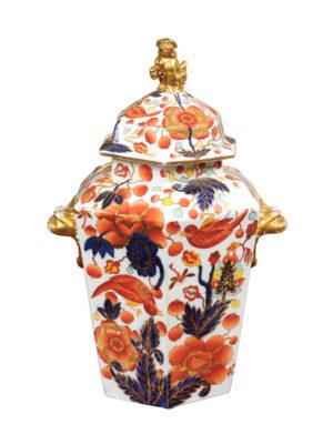Hexagonal English Vase with Lid