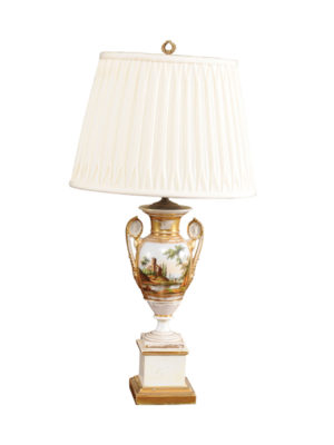 19th Century Paris Porcelain Lamp