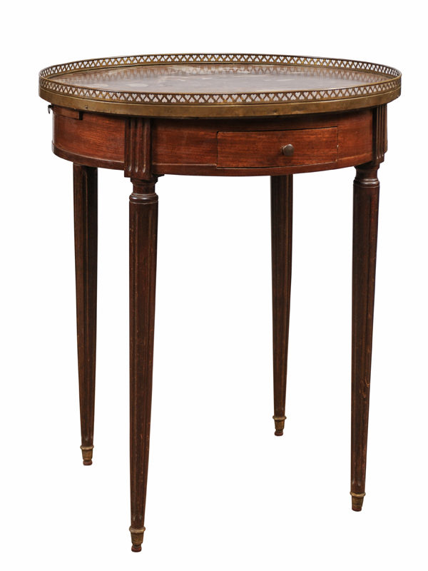 Bouillotte Table with Rouge Royale Marble Top