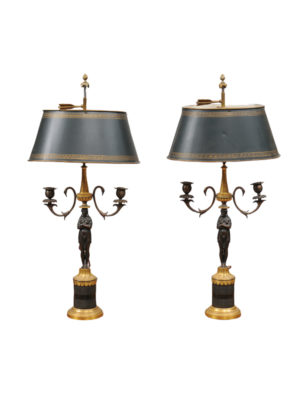 Pair of Empire Candelabra Lamps