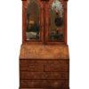 Queen Anne Double Bonnet Bureau Bookcase