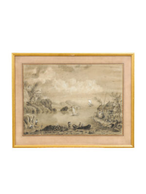 18th Century French Watercolor Landscape