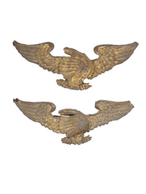 Pair Repousse Eagles