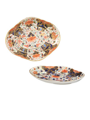 Pair of Derby Shaped Dishes