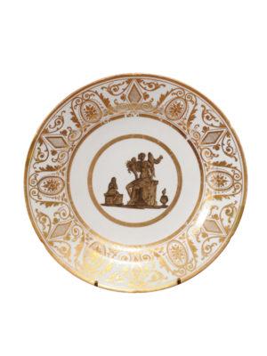 Coalport Porcelain Plate with Roman Scene