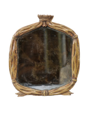 Petite Carved Wood Mirror