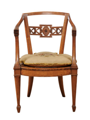 18th Century Armchair with Cane Seat