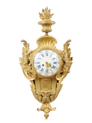 French Ormolu Cartel Clock
