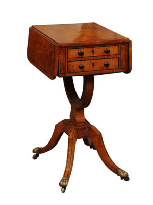 19th Century Drop Leaf Sewing Table