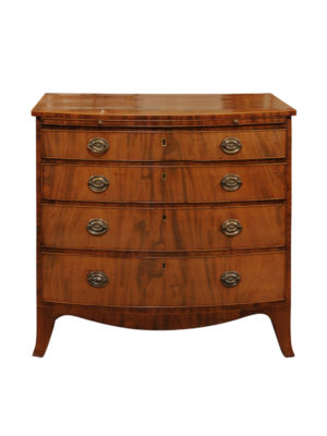 19th Century English Bowfront Chest