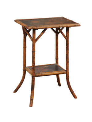 Chinoiserie Bamboo Style Side Table