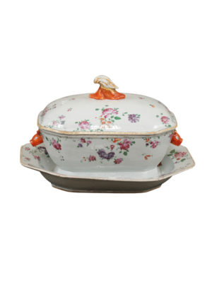 Famille Rose Soup Tureen