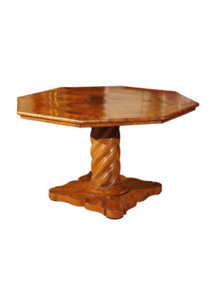 Italian Walnut Ocatgonal Center Table