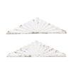 Pair White Architectural Elements