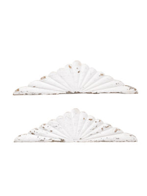 Pair White Architectural Elements