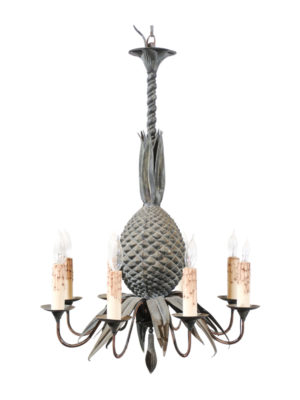 Iron Pineapple Chandelier