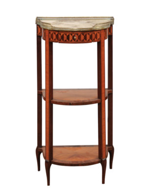 19th Century Side Table with Marble Top & Gallery