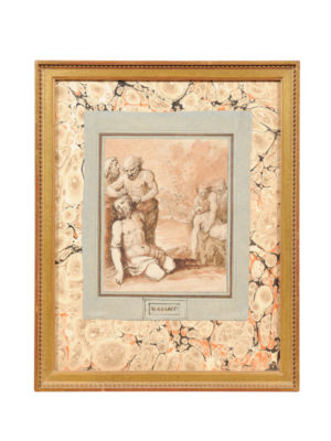 A Carracci Framed Drawing