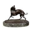 Antoine Barye Patinated Bronze Dog