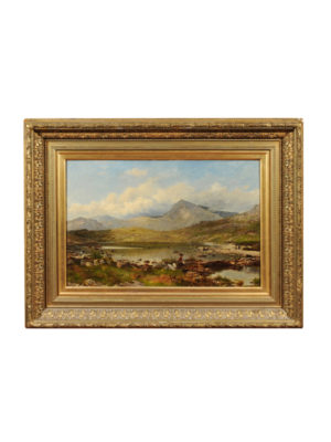 David Bates Framed Oil on Canvas Landscape Painting