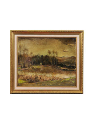 Framed Guy Cambier Post Impressionist Landscape Painting
