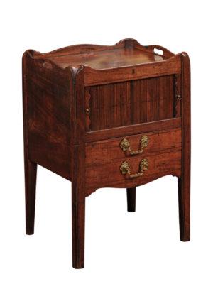 George III Mahogany Bedside Table