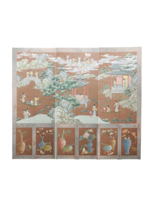 Handpainted Chinoiserie Screen