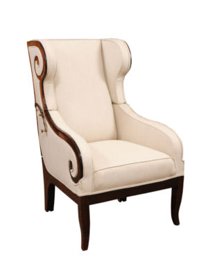 Empire Bergere in Mahogany