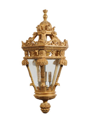Large Reproduction Giltwood Lantern