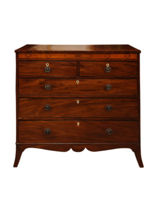 Regency Style Mahogany 5 Drawer Chest