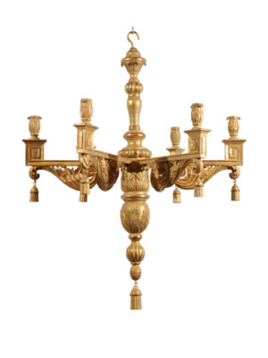 Reproduction Giltwood Chandelier