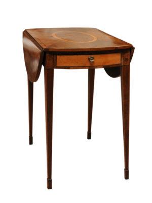 Satinwood & Yew Pembroke Table