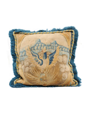 18th Century Needlepoint Pillow with Swan