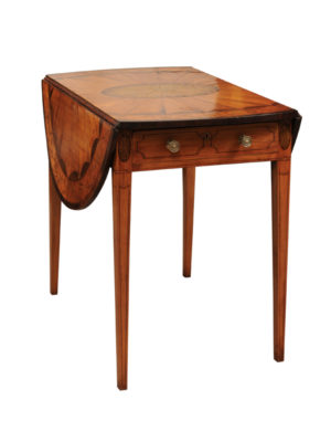 19th Century English Satinwood Inlaid Pembroke Table