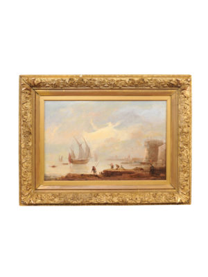 19th Century Giltwood Framed Seascape Painting