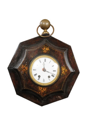 French Painted Tole Wall Clock