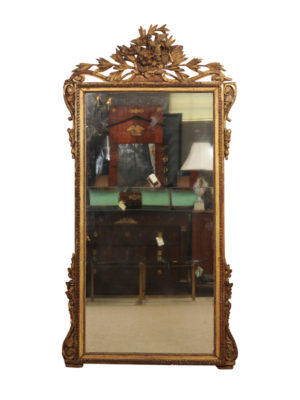 Louis XV Giltwood Mirror with Love Bird Crest