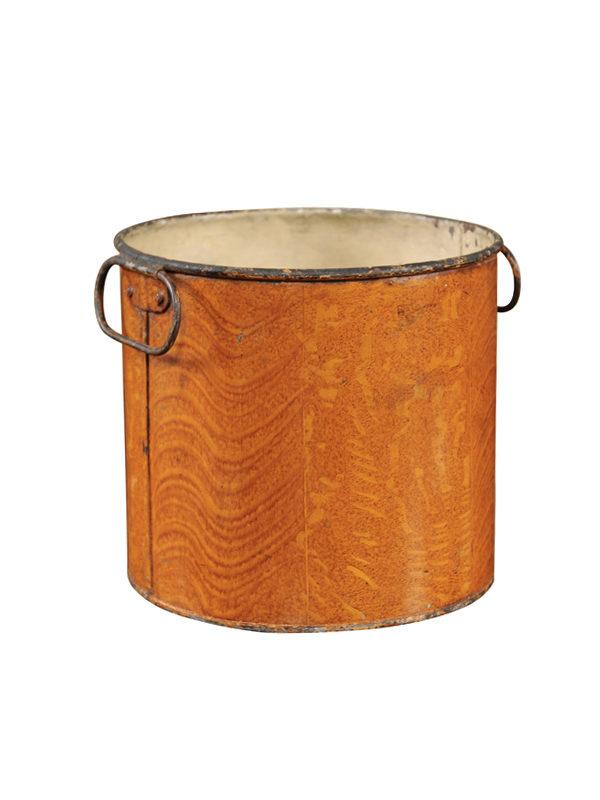 Orange Tole Cachepot