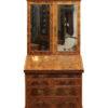 William & Mary Olivewood Bureau Bookcase