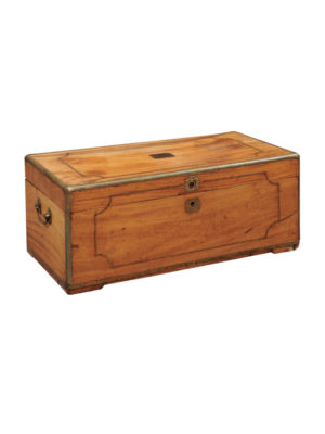 Camphor Wood & Brass Trunk