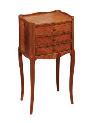 Louis XV Style Walnut & Kingwood Chevet