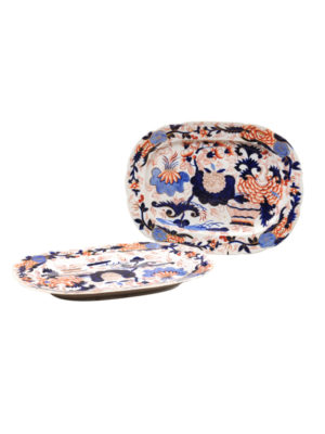 Pair English Imari Platters