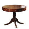 19th Century English Regency Style Mahogany Drum Table