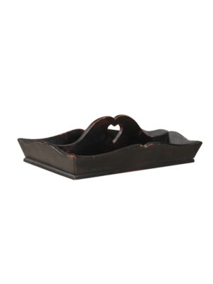 Black Painted Utensil Tray