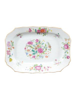 Chinese Export Famille Rose Vegetable Dish