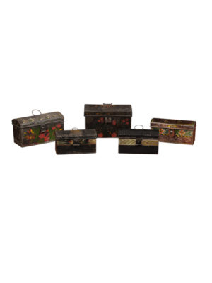 Collection 19th Century Painted Tole Boxes