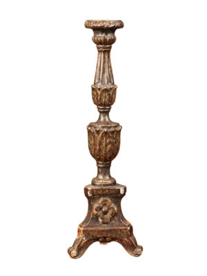Italian Silver Gilt Candlestick